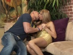 Hot shemale Carmen Cruz seduces a guy and gets her asshole drilled