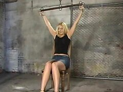 Heart Stopping Blonde Has Some BDSM Fun With A Gag Ball In Her Mouth