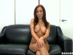 Attractive babe Bella Sianna masturbates with a dildo...