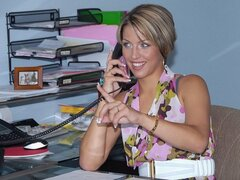 An absolute stunner of a sexy secretary shows that she is willing to do anything for her boss