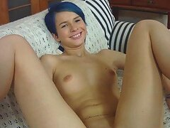 Awesome POV Anal Action with a Blue-Haired Babe
