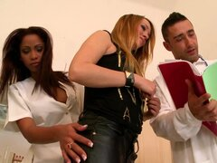 Playful bisexual chicks arrange hot threesome play