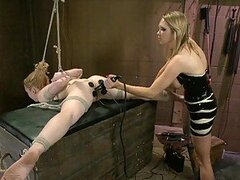 Blonde Teen Loves Being Tortured In Smoking Hot Femdom Scene