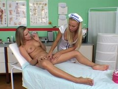 Head nurse Barbara is treating her hot patient Sandy
