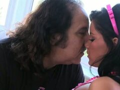 Ron jeremy gives fucking lesson to sweet slut amia moretti