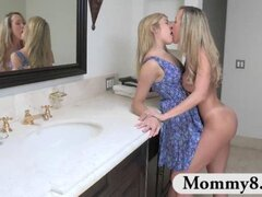 Curious teen Lia Lor gets it on with MILF Brandi Love