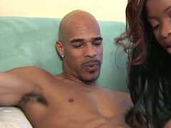 Brutal black dude pushes his dick deep in the mouth of Brandi Coxxx