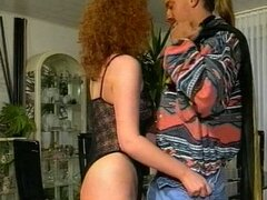 German curly hair bitch fucked hard in amateur porn