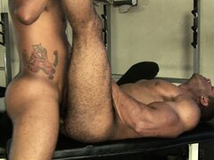 Matheus and Douglas don't bother to leave the gym when they want to fuck