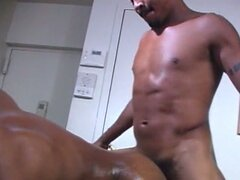 Big hard muscled dick loves cock plugging action