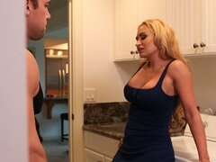 Claudia Valentine shows her amazing pussy to young guy