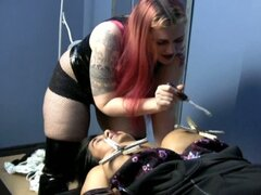 Chubby slave nimadee is tortured by chubby mistress