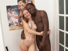 After meeting a black guy at work this teen takes him home to try his todger