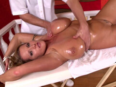 Big titty blonde Laura M shows her self hot!