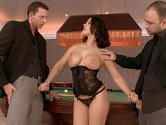 An Innocent Pool Game Turns Into Banging Threesome
