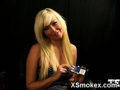 Humble Chick Smoking Blowjob And Porn