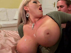 Chubby blonde Laura Orsolya is fucking like a pornstar