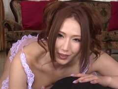 Gorgeous Japanese gal is amazing at giving titwanks