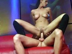 Stripper fucked on stage at party