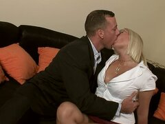 Elegant Blonde MILF Barbara Voice Taking It Deep in Her Snatch