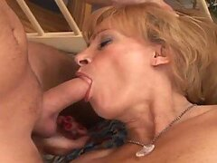 An insatiable guy fucks his friend's salacious grandmother