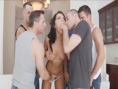 Adriana Chechik asshole stuffed with three cocks