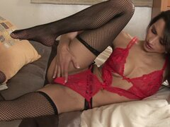 Chelsea in her sweet net stockings