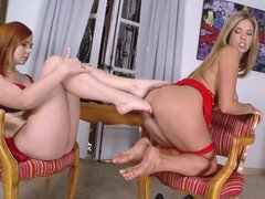 Angell Summers and Eva Parcker in the foot fetish vid