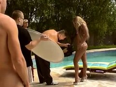 Frank Major is shooting hot Sarah James gets double penetrated