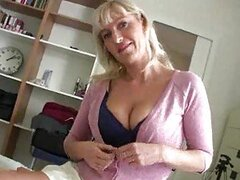 Mature takes off sweater to have sex