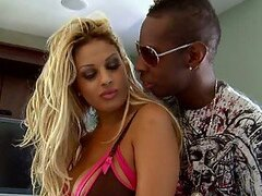 Beautiful Blonde MILF Harley Valentine Fucked By a Big Black Cock