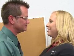 Notorious blonde teen tracy sweet fiery pumping with professor