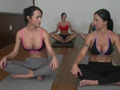 Tight bodies on yoga girls that love cock