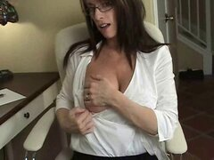Mature housewife flashing nice tits
