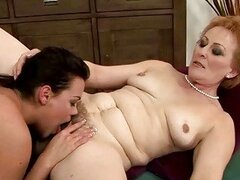 Teen loves hairy mature pussy