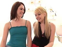 Lesbian Beauties Lexi Belle and Amber Ashley Get it On