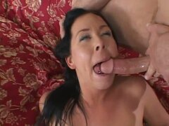 Vivacious Julie Knight loves slurping down hot cum