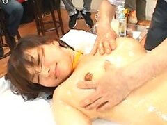 Pretty Asian Girl Gets Wet and Messy In TV Show