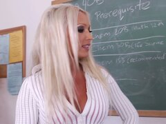 Horny teacher Diana Doll doggy by her kinky student