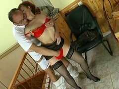 Hot stocking momma loves dick jerking