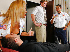 Keiran accidentally slips on the floor at work and hurts his back. When his friend Matt walks in he tries helping him out but he is in to much pain so he calls the ambulance for him. When the paramedics arrive Rachel Starr makes sure he nurses Keiran back