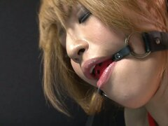 Bondaged victim Hatsuka Kobayashi gets her pussy fingerfucked