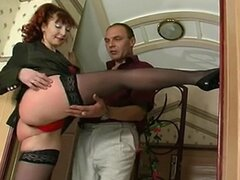 Hot Redhaired Mature Banging in Stockings and Heels