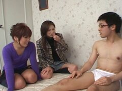 Assfisting party with asian hotties