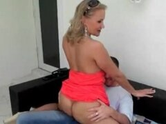 Milf Valerie Rose grinds in his lap