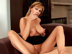Nicole moore explores her erogenous zones with her talented milf fingers