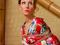 Tied milf with pretty face wants her lovely master to punish her in the room