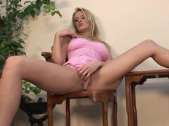 Cute blonde Jane Darling is poking her nice shaved hole