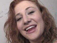 Red head lucy fire with tattoed pussy nasty glory hole fun