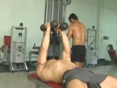 Gay hardcore anal action in the gym